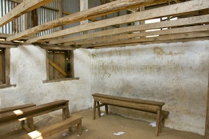 A disappointingly dull classroom at Mahendra LS School