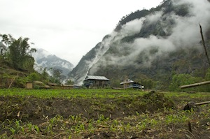 The attractive village of Phoktanglung