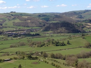 Looking down into the Teme Valley