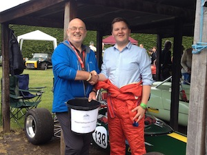 With Andrew Lewis at the Shelsley Hill Climb