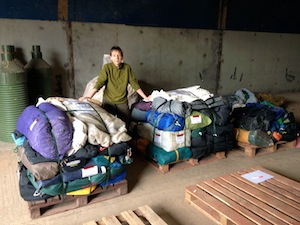Half a tonne of tents