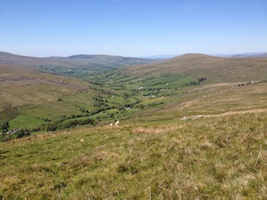 Looking down on Dentdale