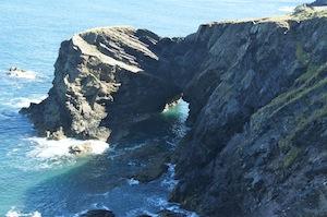 Dramatic coastal scenery