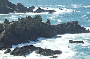 Dramatic coastline and waters