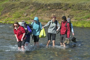 Our first river crossing of the day