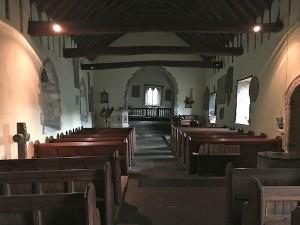 Inside Cwmyoy Church