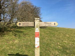 Offa's Dyke half way point