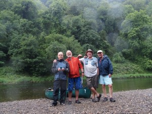 Four Old Gits on the River Wye with a combined age of 260!