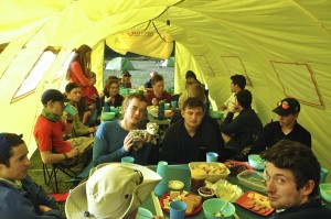 The mess tent