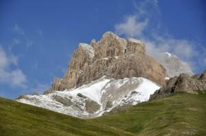 Rocky slopes above camp