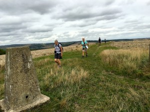 Reaching the trig point on Hambledon Hill
