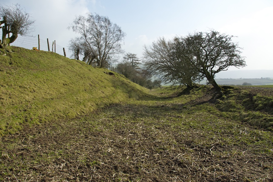 Offa's Dyke clearly visible in Shropshire