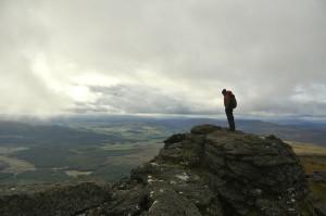 Stephen on the summit of Ben Rinnes