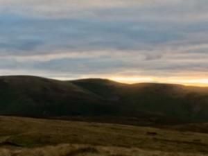 Sun setting behind Blencathra