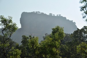 Sigiriya towering almost 200m above the surrounding countryside