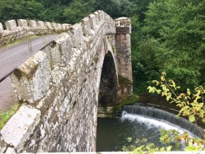 The turreted bridge of Downton Castle