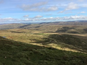 The bleak, open moors of the Yorkshire dales